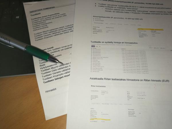 Toiminnanohjausjärjestelmänvaihto-Projektin vaihe